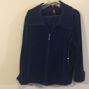 Blue Velour ladies 2pc set like New Sz 8/10P 12/14